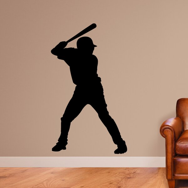 Knecht Baseball Batter Silhouette Wall Decal by Zoomie Kids