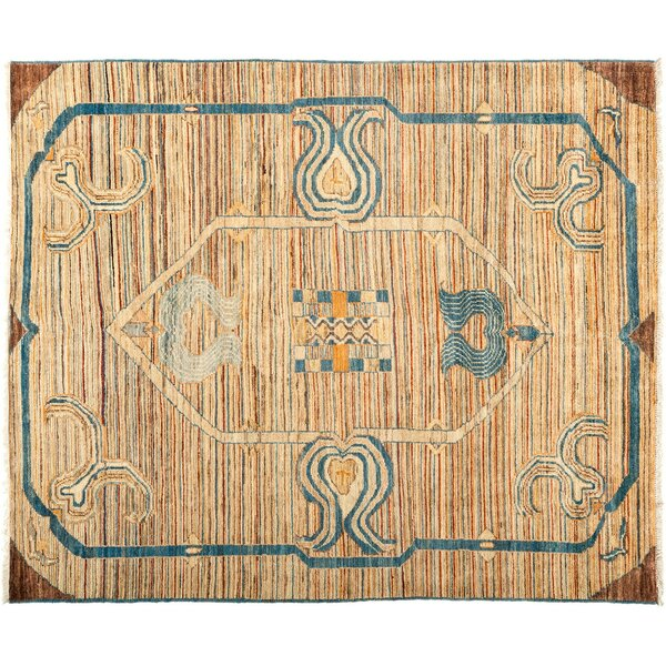 One-of-a-Kind Suzani Hand-Knotted Brown Area Rug by Darya Rugs