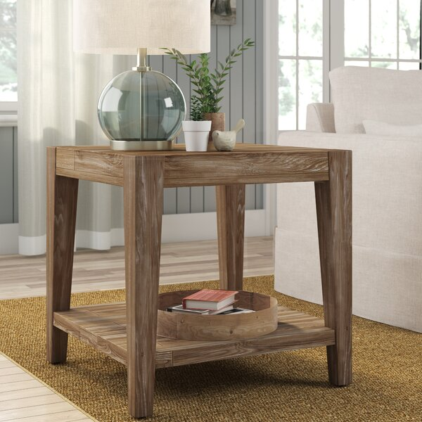 Savannah Dionne Beige End Table by Laurel Foundry Modern Farmhouse