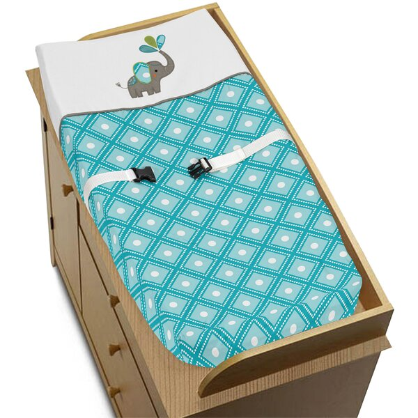 Mod Elephant Changing Pad Cover by Sweet Jojo Designs