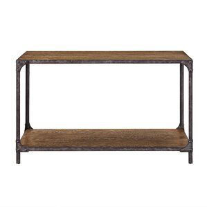 Danette Wood and Metal Console Table by Will..