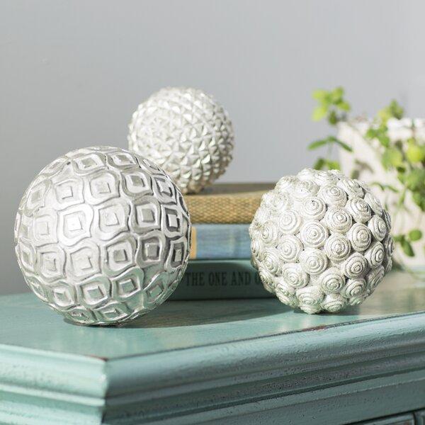 3 Piece Decorative Orb Set by Bungalow Rose