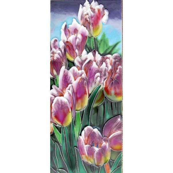 Tulips Tile Wall Decor by Continental Art Center