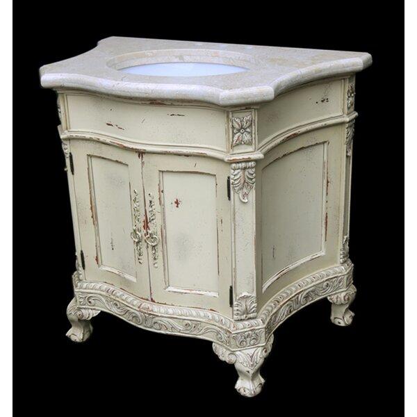 Trainor Parchment 53 Wall-Mounted Single Bathroom Vanity Set
