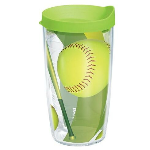 Game On Softball Plastic Travel Tumbler by Tervis Tumbler