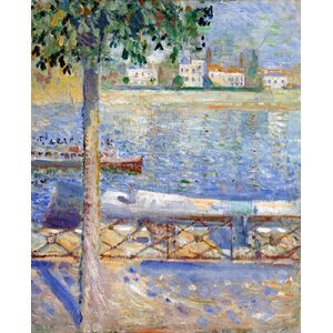 The Seine At Saint Cloud Painting Print by Prestige Art Studios
