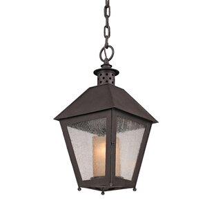 Dinerstein 1-Light Outdoor Hanging Lantern By Longshore Tides Outdoor Lighting
