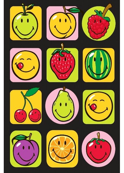 Smiley World Fruitti Area Rug by Fun Rugs