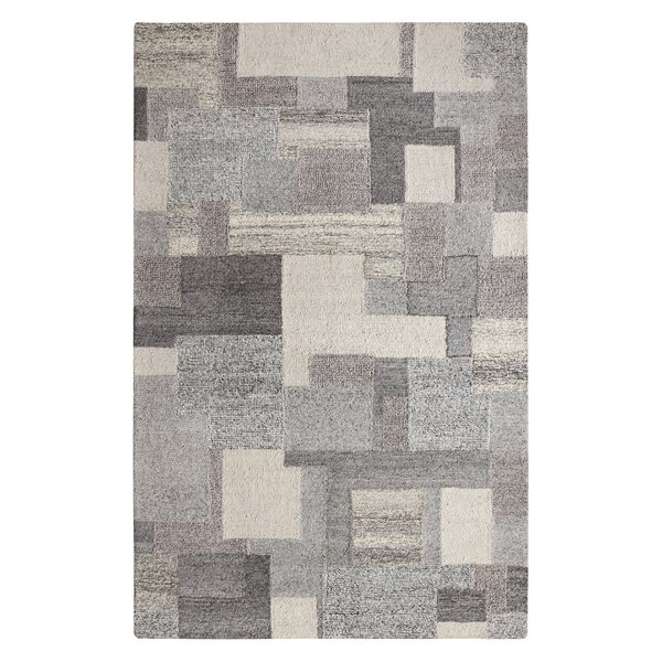 Dunagan Hand Tufted Gray/Beige Area Rug by Orren Ellis