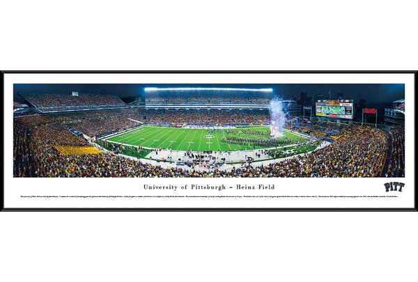 NCAA Pittsburgh, University of - Night by James Simmons Framed Photographic Print by Blakeway Worldwide Panoramas, Inc