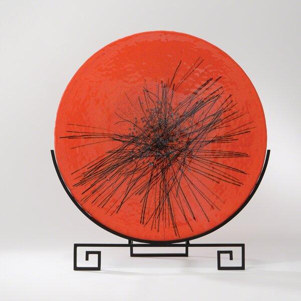Faunia Round Bonfire Murano Glass Flat Plate by Bloomsbury Market