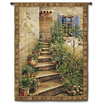 Roberta Tuscan Villa II Small by Roger Duvall, Roger Tapestry by Fleur De Lis Living