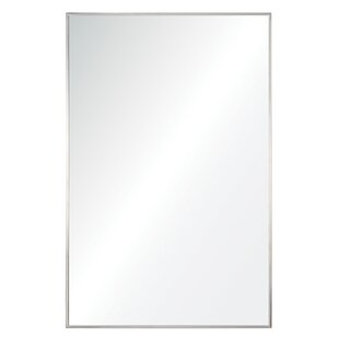 Orren Ellis Framed Rectangular Accent Metal Wall Mirror