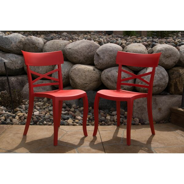 Blagojevic Stacking Patio Dining Chair (Set of 2) by August Grove