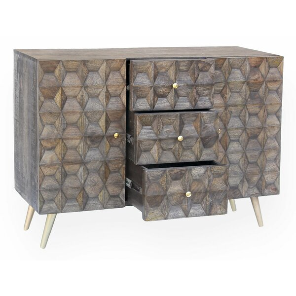 Maia Sideboard 3 Drawer and 2 Door Accent Chest by Everly Quinn