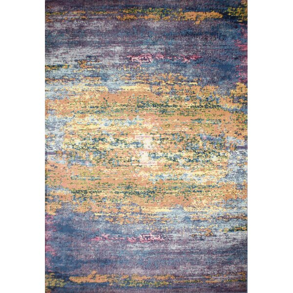 Huissen Blue Area Rug by Brayden Studio