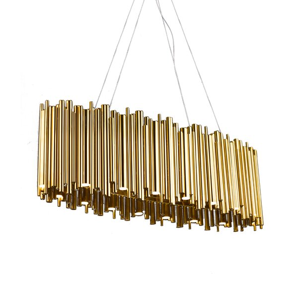 Nina 32 - Light Unique / Statement Geometric LED Chandelier By Everly Quinn
