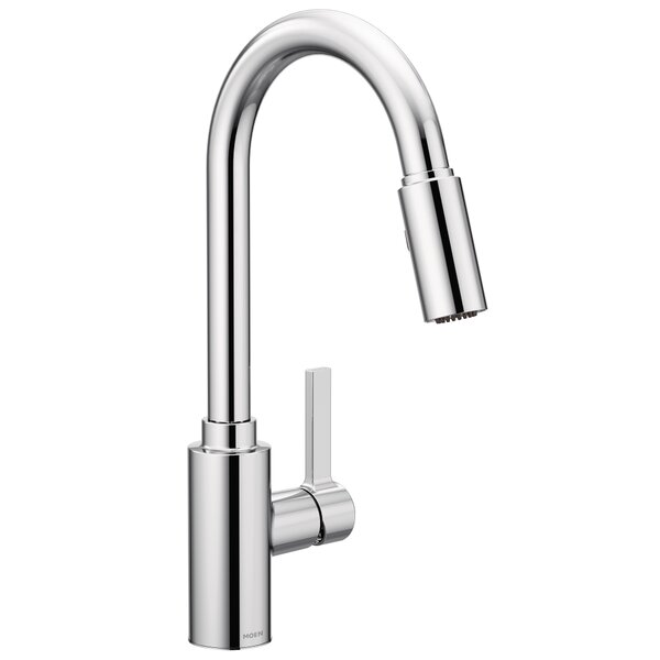 Genta Single Handle Pulldown Kitchen Faucet with Power Clean™, Reflex™, Duralock™ by Moen