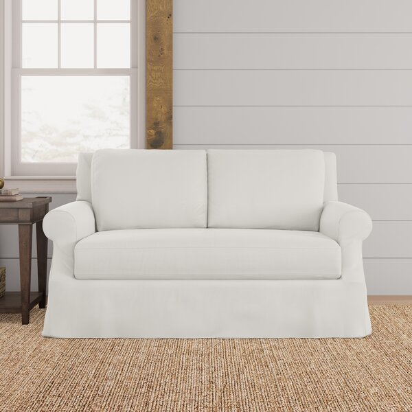 Online Shopping Discount Dieter Slipcovered Loveseat by Red Barrel Studio by Red Barrel Studio