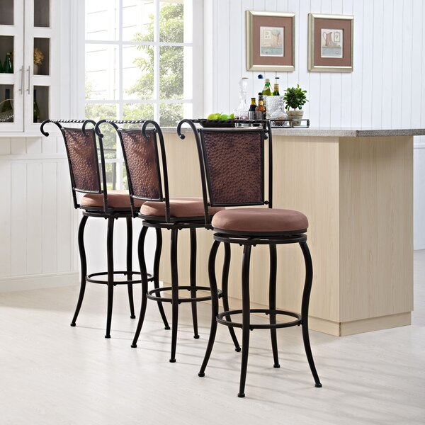 Konner 46.25 Swivel Bar Stool by World Menagerie