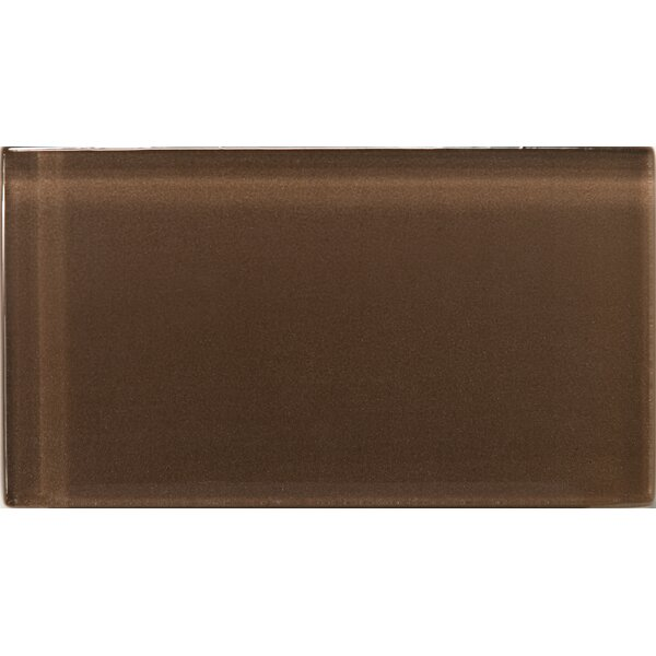 Lucente 3 x 6 Glass Subway Tile in Mulberry by Emser Tile