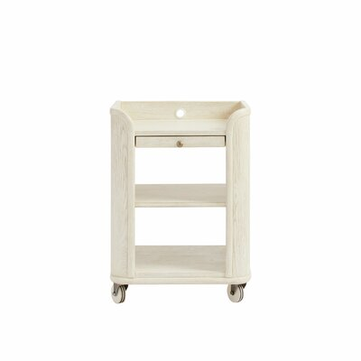 Storage Nightstand Oak pic