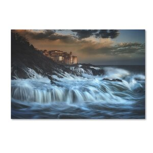 'Tellaro Water Fall' Photographic Print on Wrapped Canvas by Trademark Fine Art