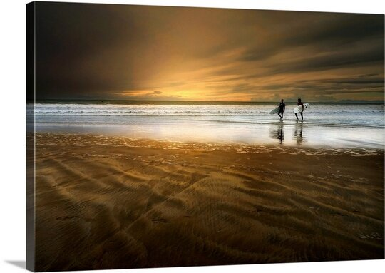 The Beach by Sol Marrades Photographic Print on Canvas by Canvas On Demand