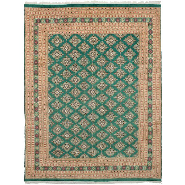 One-of-a-Kind Do Hand Knotted Wool Teal Area Rug by Isabelline