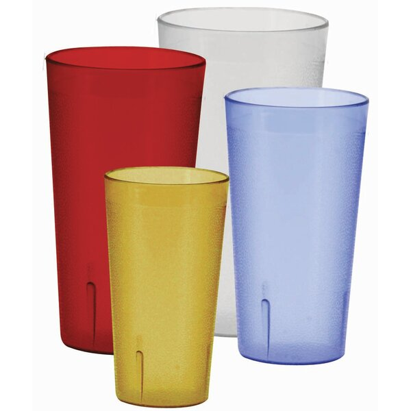 Pebbled 12 oz. Plastic Every Day Glass (Set of 12) by Winco