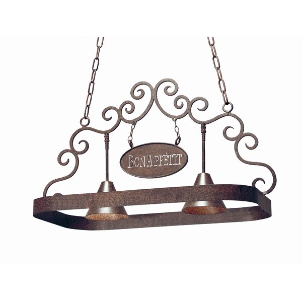 Bon Appetit 2 Light Hanging Pot Rack by 2nd Ave Design