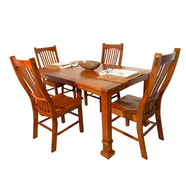 Lagunitas 5 Piece Solid Wood Dining Set by Darby Home Co