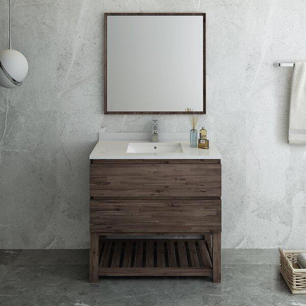 Formosa Floor Standing Open Bottom 36 Single Bathroom Vanity Set with Mirror