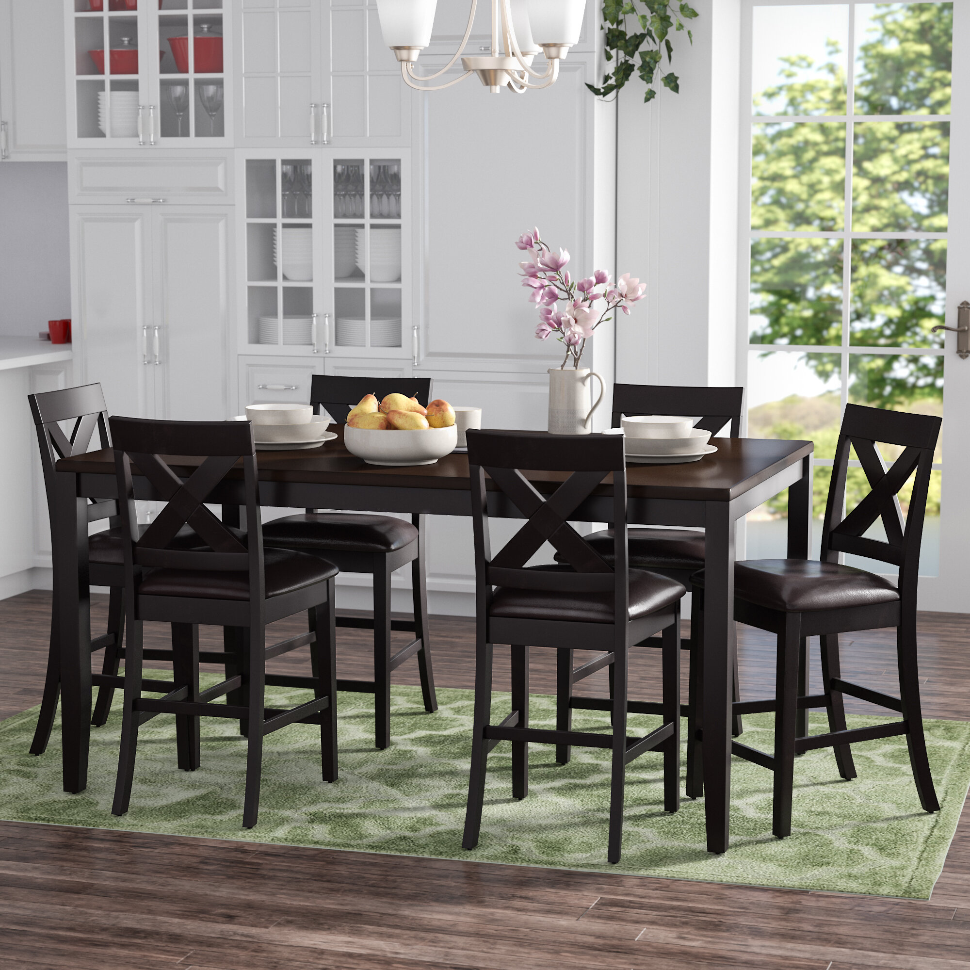 Darby Home Co Nadine Rectangular 7 Piece Breakfast Nook Dining Set Reviews Wayfair
