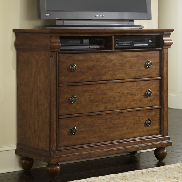 Home & Outdoor Warlick 3 Drawer Media Chest