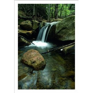 'Waterfall in the Woods' Photographic Print on Wrapped Canvas by Ebern Designs
