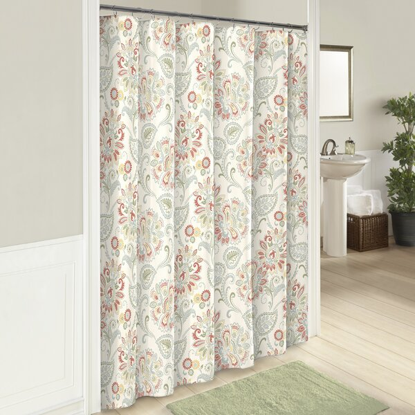 Fieldon Cotton Shower Curtain by Three Posts