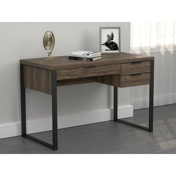 Stickland 3-Drawer 48 Writing Desk Aged Walnut
