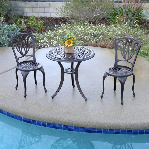 Falzone 3 Piece Bistro Set by August Grove