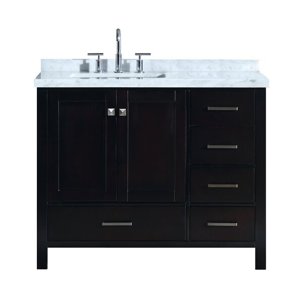 Utley 43 Wood Base Single Bathroom Vanity Set by Andover Mills