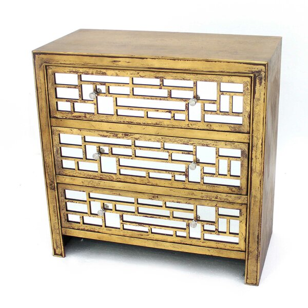 Jailyn Wooden 3 Drawers Accent Chest by Mercer41 Mercer41