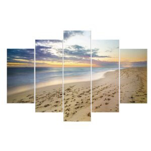 'Running in the Sand' Photographic Print Multi-Piece Image on Wrapped Canvas by East Urban Home