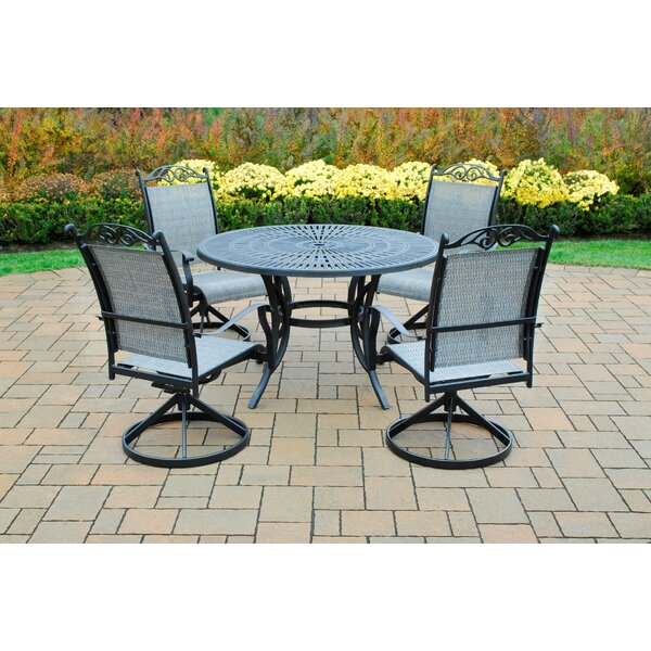 Sunray 5 Piece Swivel Dining Set by Oakland Living