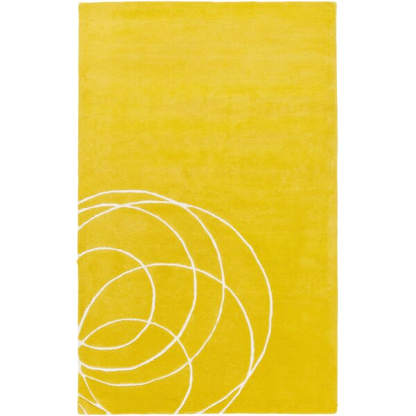 Solid Bold Gold Area Rug by Bobby Berk Home