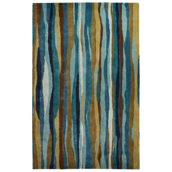 Gillian Hand-Tufted Blue/Green Area Rug by Latitude Run