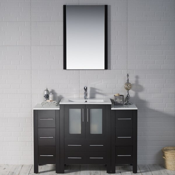 Mance 48 Single Bathroom Vanity Set with Mirror by Orren Ellis