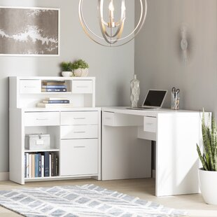 L Shaped White Desks Youu0027ll Love | Wayfair