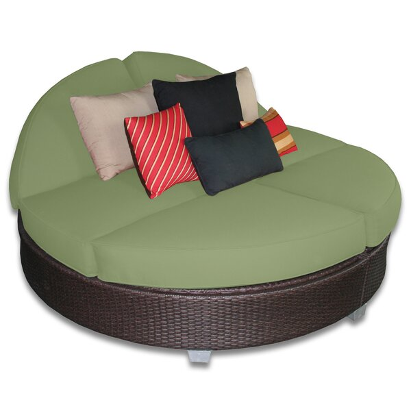 Sienna Round Double Patio Daybed with Sunbrella Cushions by Axcss Inc.