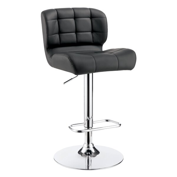 Ohboke Adjustable Height Swivel Bar Stool by Orren Ellis