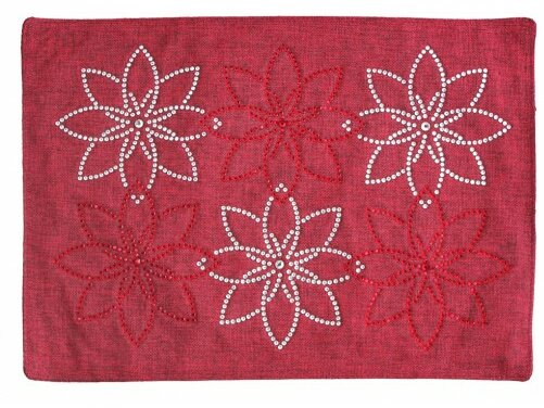 Pointsettia Holiday Placemat by Sparkles Home